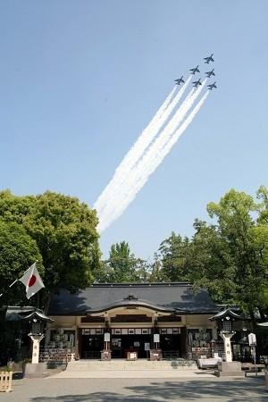 熊本城築城400年記念イベントでの飛行