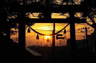 境内からの夕日