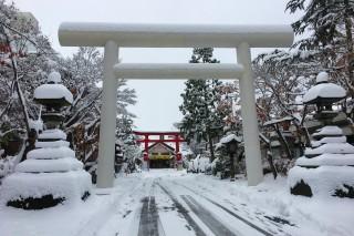 善知鳥神社の第一鳥居
