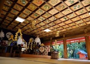 琴崎八幡宮 天井